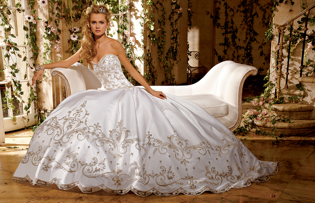 Bridal Gowns by Eve of Milady - Couture wedding dresses Style 4269